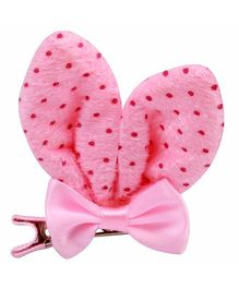 Babies Bloom Aligator Hair Bow Clip - Pink