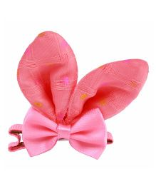 Babies Bloom Solid Color Aligator Hair Bow Clip - Pink
