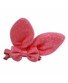Babies Bloom Aligator Hair Bow Clip - Pink White