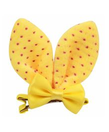 Babies Bloom Aligator Hair Bow Clip - Yellow Pink