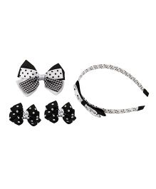 Babies Bloom Hair Accessory Set Pack Of 4 - White Black