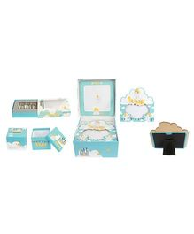 Babies Bloom Object Keepsake Set - Blue Yellow
