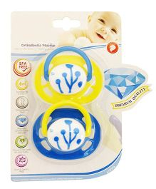 Babies Bloom Baby Pacifier Blue - Set of 2