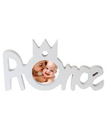 Babies Bloom White Prince Photo Frame - White
