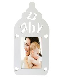 Babies Bloom Baby Bottle Shaped Photo Frame - White