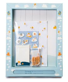 Babies Bloom Memory Display Frame With Drawer - Blue