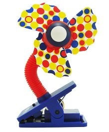Babies Bloom Clip On Cooling Fan For Babies - Red Blue Yellow