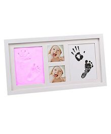 Babies Bloom Hand-Print & Footprint Picture Frame Kit - Pink