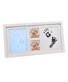 Babies Bloom Hand-Print & Footprint Picture Frame Kit - Blue