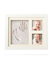 Babies Bloom Hand-Print And Footprint Frame Kit - White