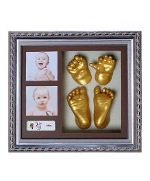 Babies Bloom DIY 3D Hand Footprint Kit With Photo Frame - Silver Golden