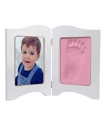 Babies Bloom Keepsake Photo Frame With Clay - Pink