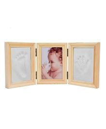 Babies Bloom Milestones Imprint Frame With Clay - White