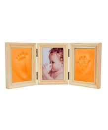 Babies Bloom Milestones Imprint Frame With Clay - Orange