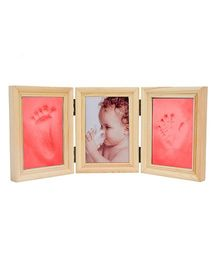 Babies Bloom Milestones Imprint Frame With Clay - Red