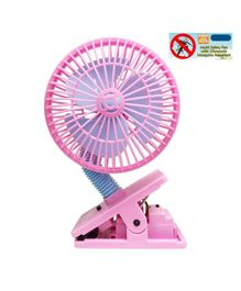 Babies Bloom Anti Mosquito Repellent Fan - Pink Blue