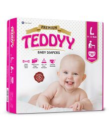 Teddyy Baby Premium Diapers Large Size - 36 Pieces