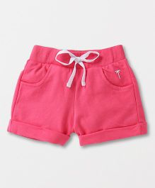Palm Tree Shorts With Drawstrings - Pink