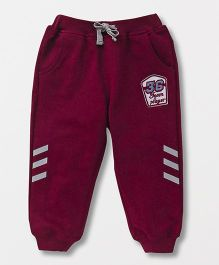 GJ Baby Full Length With Print Team Player Track Pants - Red