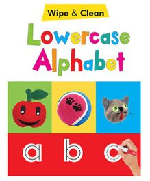 Lowercase Alphabet Wipe & Clean Book - English