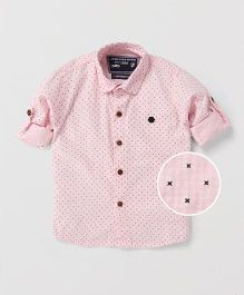 Jash Kids Full Sleeves Allover Printed Shirt - Pink