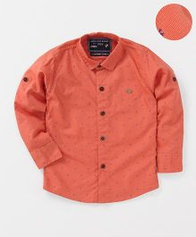 Jash Kids Full Sleeves Printed Shirt - Orange
