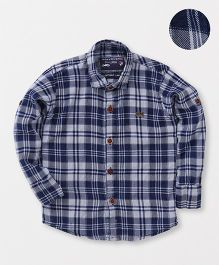 Jash Kids Full Sleeves Checks Shirt - Navy White