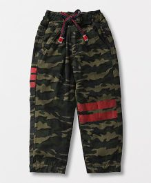 Little Kangaroos Track Pants Camouflage Print - Green