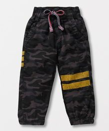 Little Kangaroos Track Pants Camouflage Print - Grey