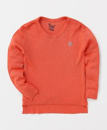 Vitamins Full Sleeves Winter Tee - Coral