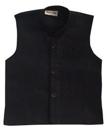 BownBee Party Wear Waistcoat - Black