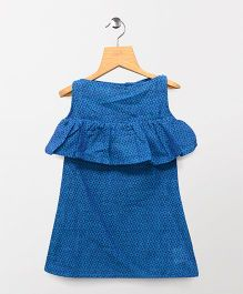 Tiny Toddler Boat Neck Dress - Blue