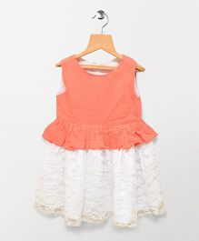 Tiny Toddler Lace Dress - Peach