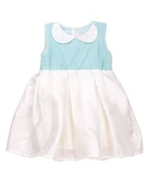 Tiny Toddler Peter Pan Collar Dress - Turquoise