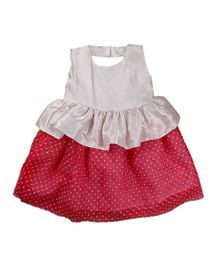 Tiny Toddler Polka Dot Dress - White