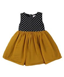 Tiny Toddler Retro Print Dress - Brown