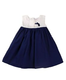 Tiny Toddler Smart Chic Dress - Navy