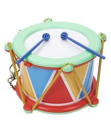 Lovely  Musical Drum With Sticks Big - Multicolour