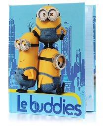 Babyoodles Light Up Notebook Minions Blue Yellow - 120 Pages