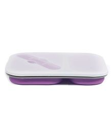 Babyoodles Silicon Tiffin Box Two Compartment - Purple