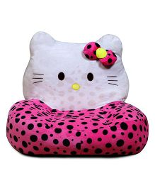 Babyoodles Plush Kids Couch Hello Kitty - Pink White