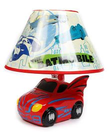 Baby Oodles Ceramic Table Lamp Batman Themed - Red
