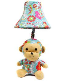 Baby Oodles Fabric Table Lamp Colourful Monkey - Multicolour