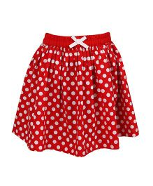 ShopperTree Polka Dots Skirt - Red