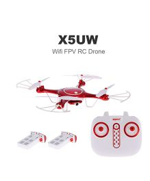 Toyhouse Drones X5UW Quadcopter Remote Control Drone - Red