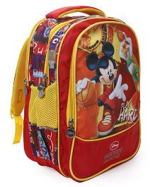 Disney Mickey Mouse School Bag Red & Multi Colour - 16 inches