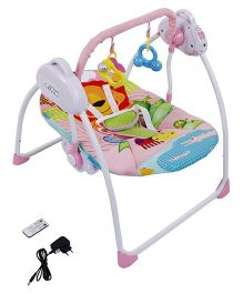Remote Control Baby Rocker Cum Swing - Pink & Blue