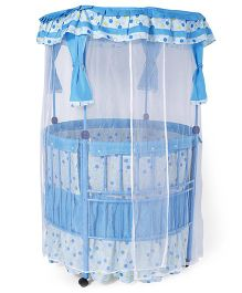Baby Cot With Mosquito Net - Blue