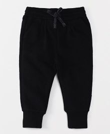 Fox Baby Full Length Solid Color Lounge Pant - Black
