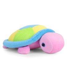 Benny & Bunny Turtle Soft Toy Pink Blue Green - Length 26 cm